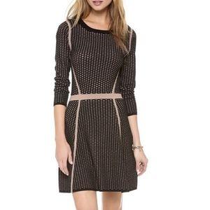 Club Monaco A-line black/beige Dress szL